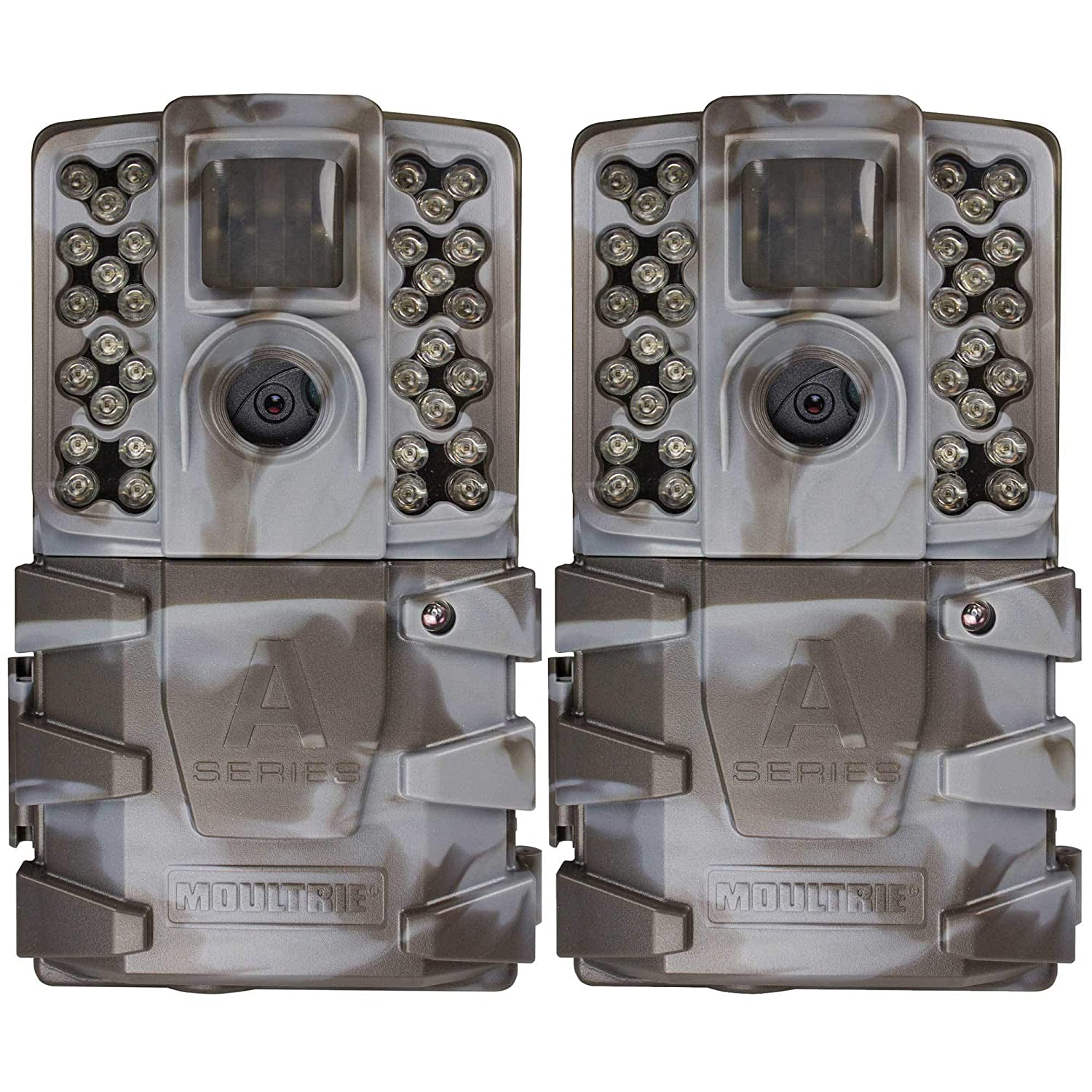 Moultrie A-35 14MP 60 HD Video Low Glow Infrared Game Trail Camera 2 Pack