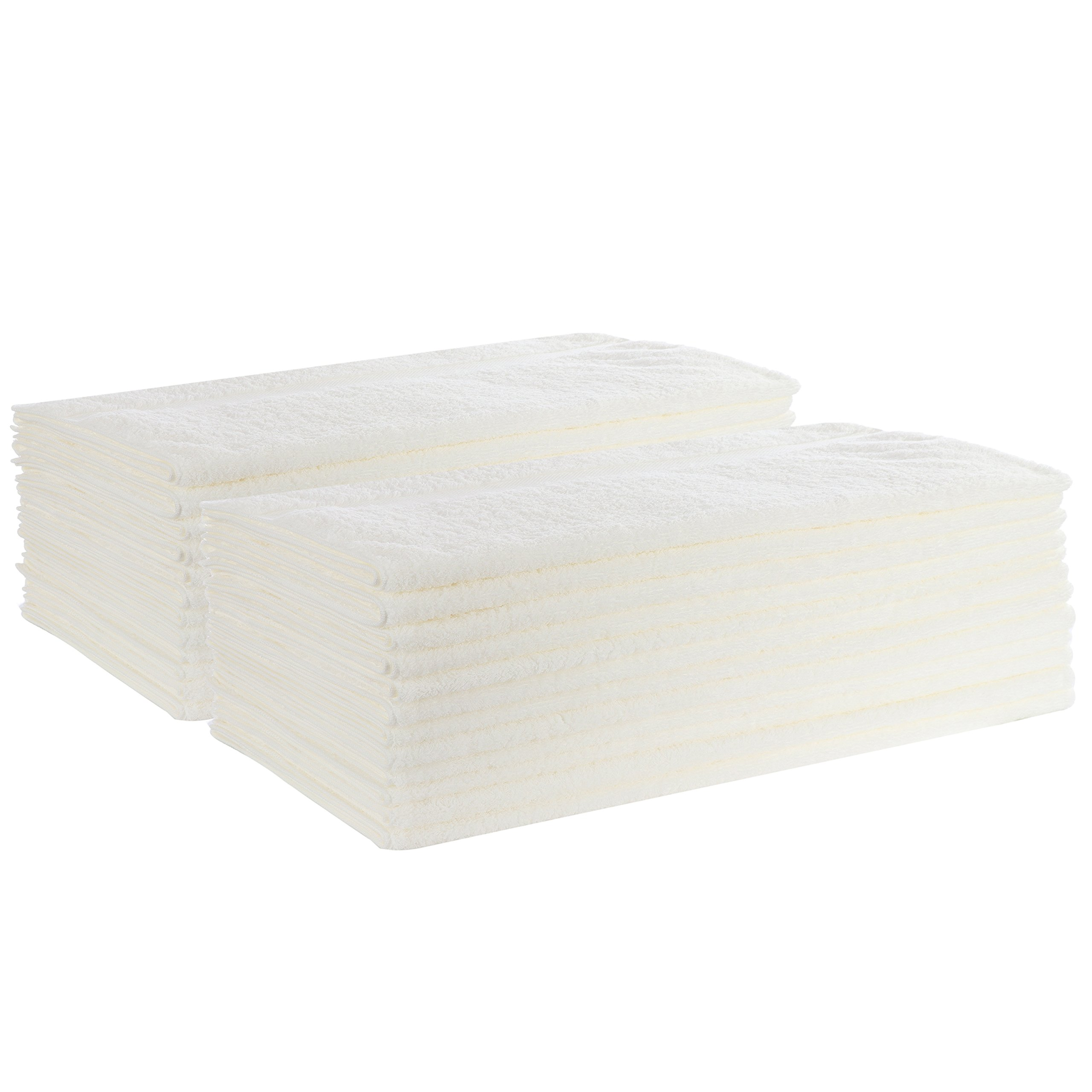Organic Cotton Bath Towel 24 Pack - LARGE- Perfect For Those With Sensitive Skin, Including Infants, Toddlers, and Kids of All Ages - Hypo-Allergenic and Free of Harsh Chemicals and Dyes