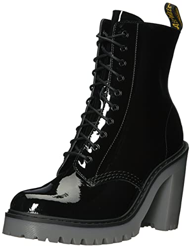 fa91c822b41 Dr Martens Kendra Womens High Heeled Patent Leather Boots - Black UK ...