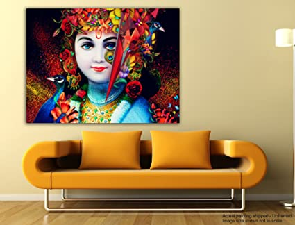 Tamatina Canvas Paintings - Jai Sri Krishna - Krishna Paintings for ...