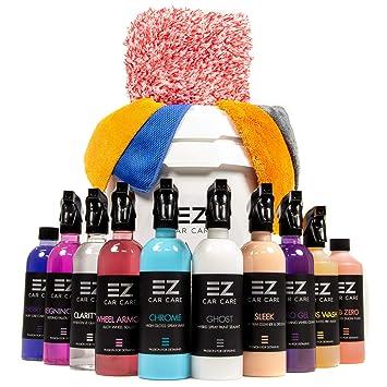 EZ Kit de Limpieza de Coches: Set Completo con champú, Limpiador de Ventanas,