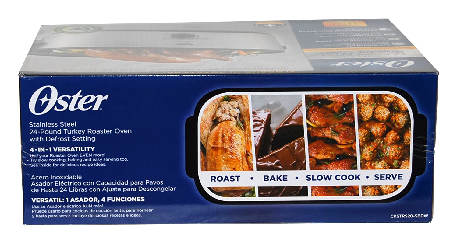 1 Brand in Roasters – Oster Stainless Steel 24-Pound Turkey Roaster Oven 20 Quarts
