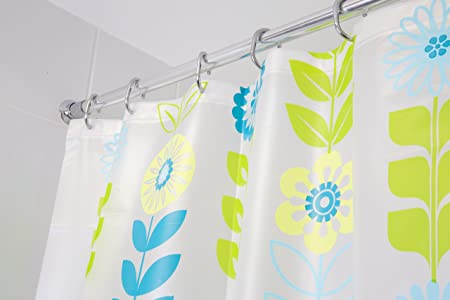 Croydex Mod Floral Fully Waterproof Patterned Vinyl Shower Curtain