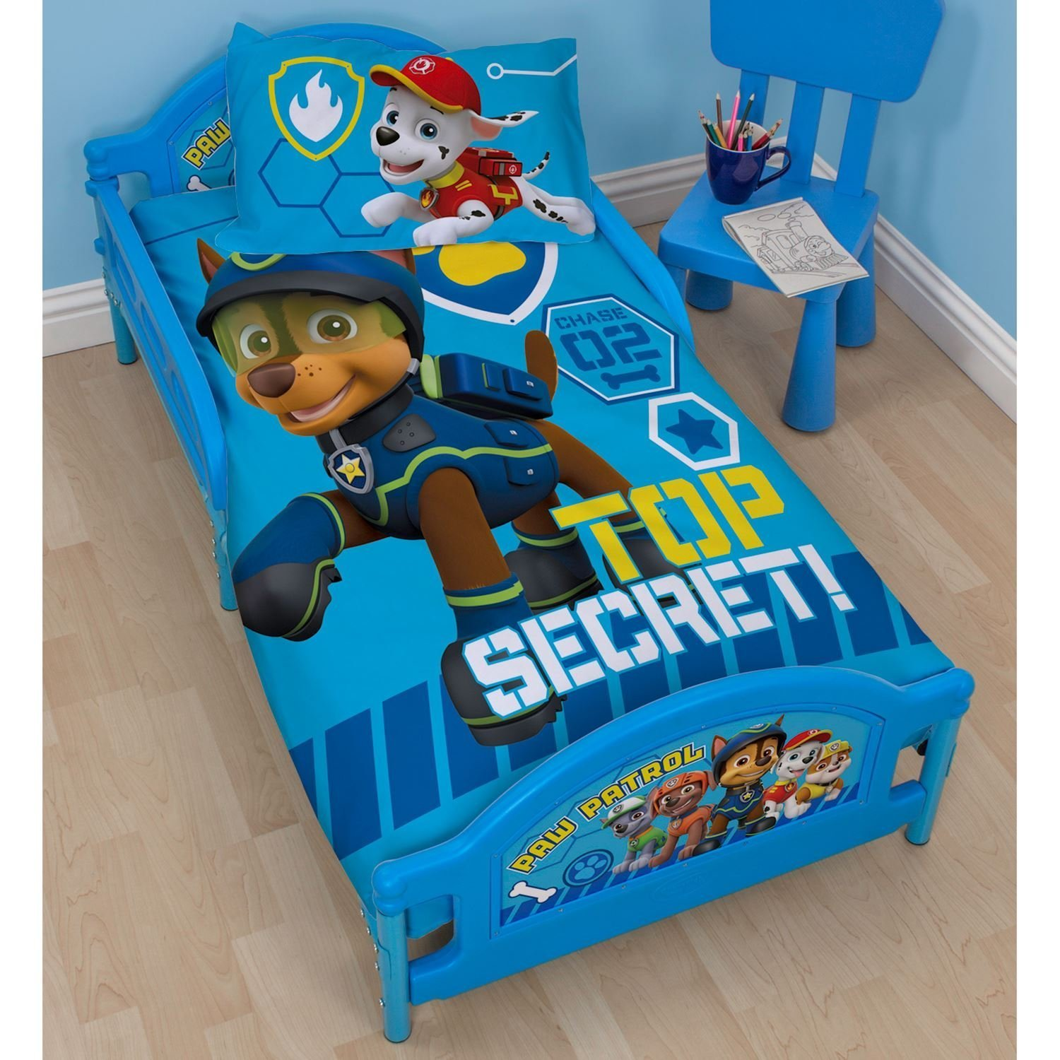 Paw Patrol 'Spy' Junior/Cot Bed Size Duvet Cover Set Character World PAWSPYDJ003UK3