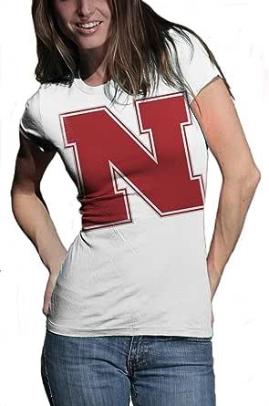 NCAA Nebraska Cornhuskers Gigantor Short Sleeve Tee, White, Small