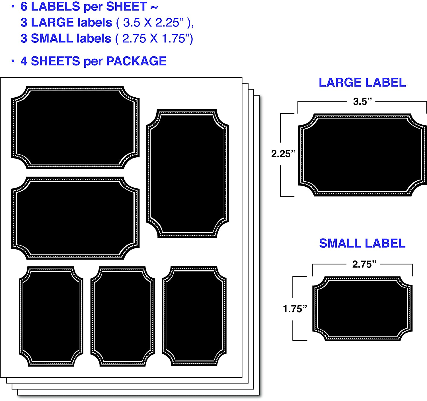 amazon com 24 small and large mason jar chalkboard labels with