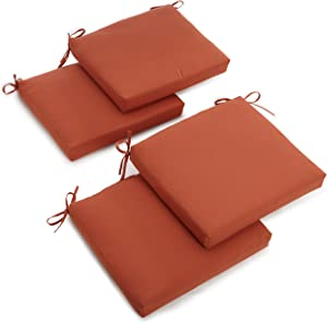 Blazing Needles Twill 19-Inch by 20-Inch by 3-1/2-Inch Zippered Cushions, Spice, Set of 4