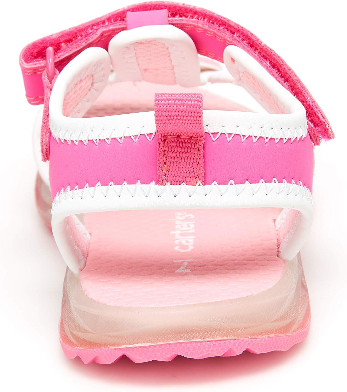 carters Girls Feline Light-up Athletic Sandal 7 M US Toddler Fuchsia
