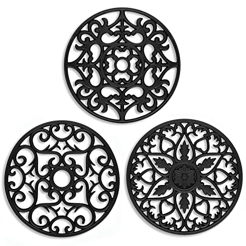 Me.Fan 3 Set Silicone Multi-Use Intricately Carved Trivet Mat
