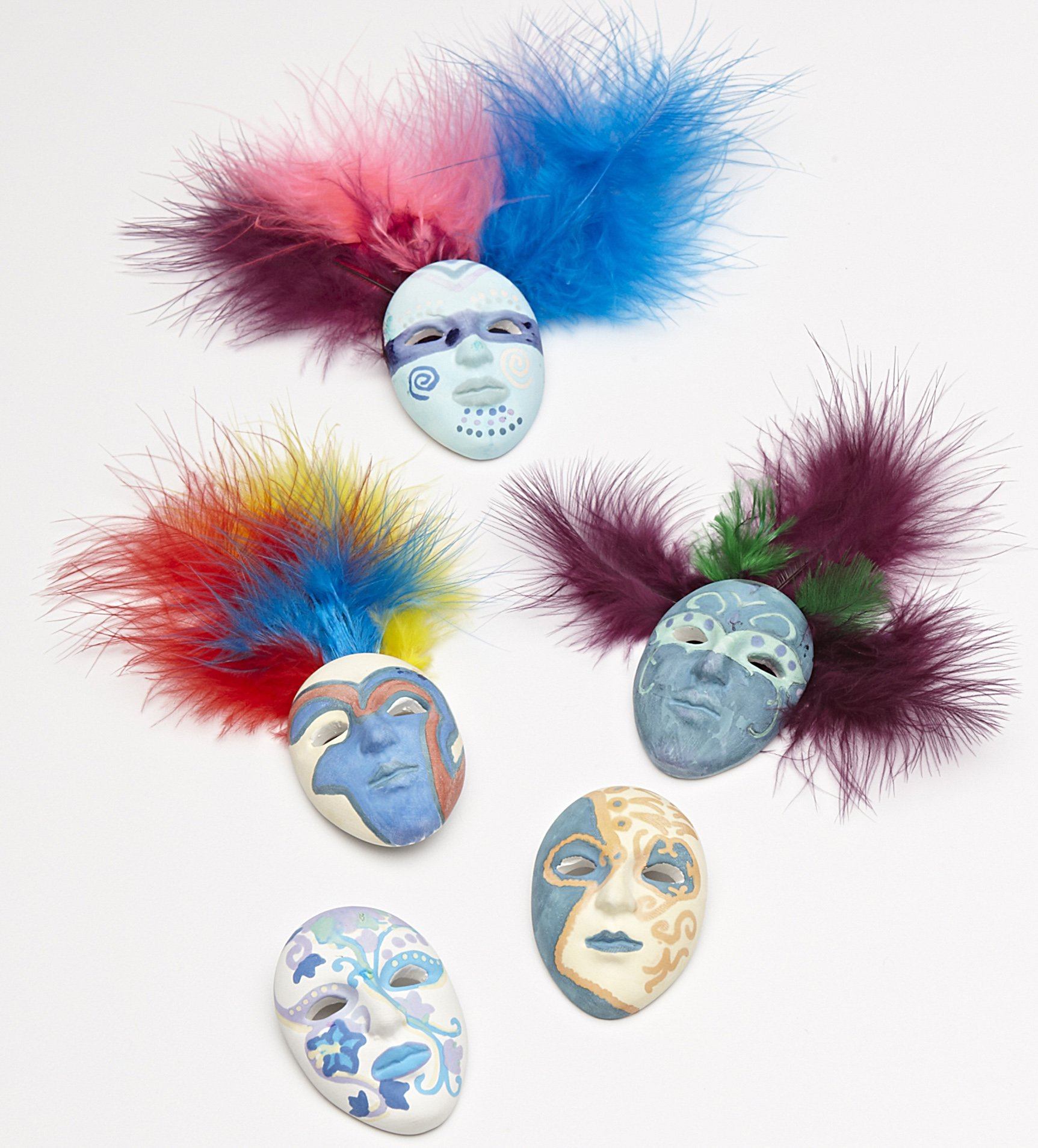 Mardi Gras - Carnaval - Karneval - Ceramic Mask Magnet Kit (Makes 30 Masks)