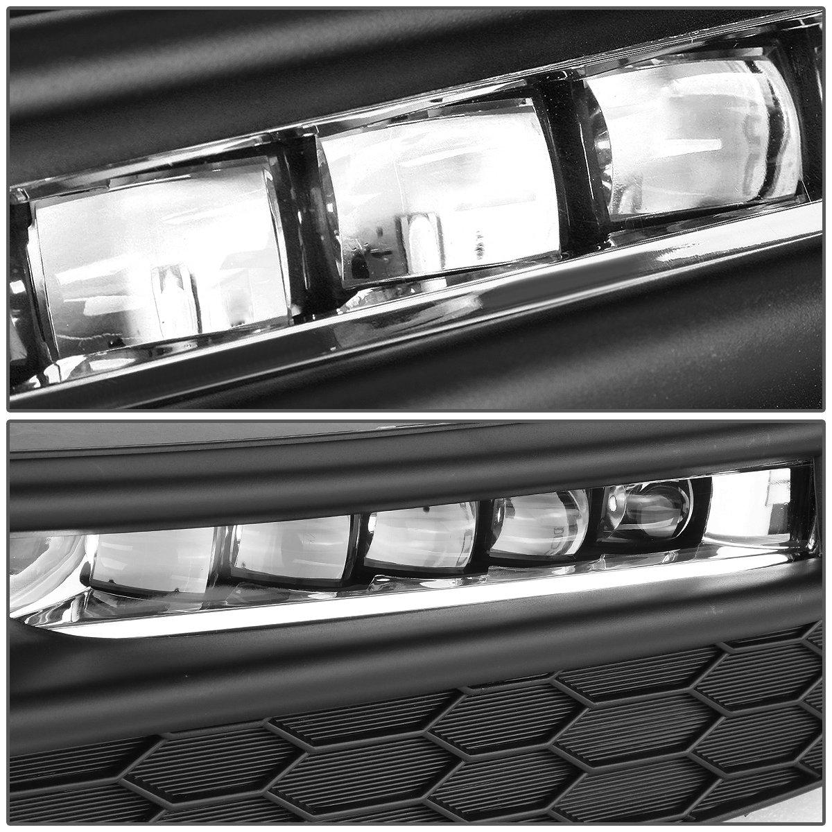 DNA Motoring FL-ZTL-257-AM Pair of Amber Lens LED Fog Light 16-17 Honda Accord Switch Bezels