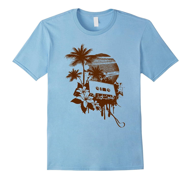 51029b509 Vintage Summer Sunset Cassette Tape T-Shirt-PL – Polozatee