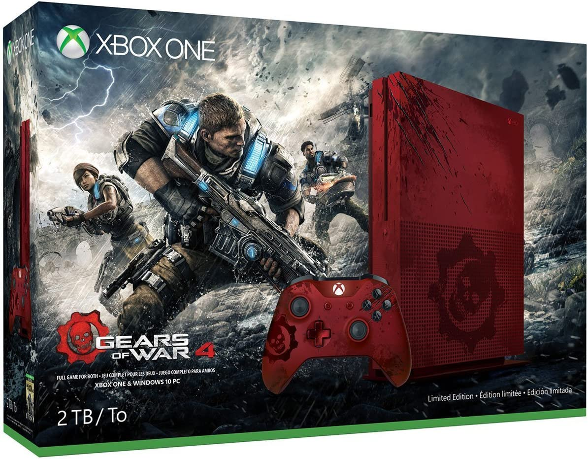 Amazon com: Xbox One S 2TB Limited Edition Console - Gears