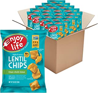 product image for Enjoy Life Thai Chili Lime Lentil Chips, Dairy Free Chips, Soy Free, Nut Free, Non GMO, Vegan, Gluten Free, 24 - 0.8 oz Bags
