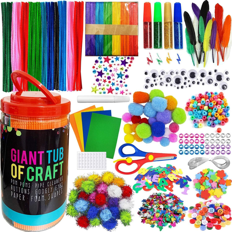 Mega Kids Crafts and Art Supplies Jar Kit