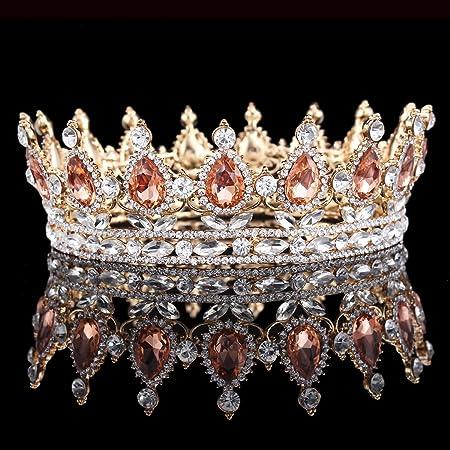 herzii princess rhinestone crystal crowns wedding tiaras party