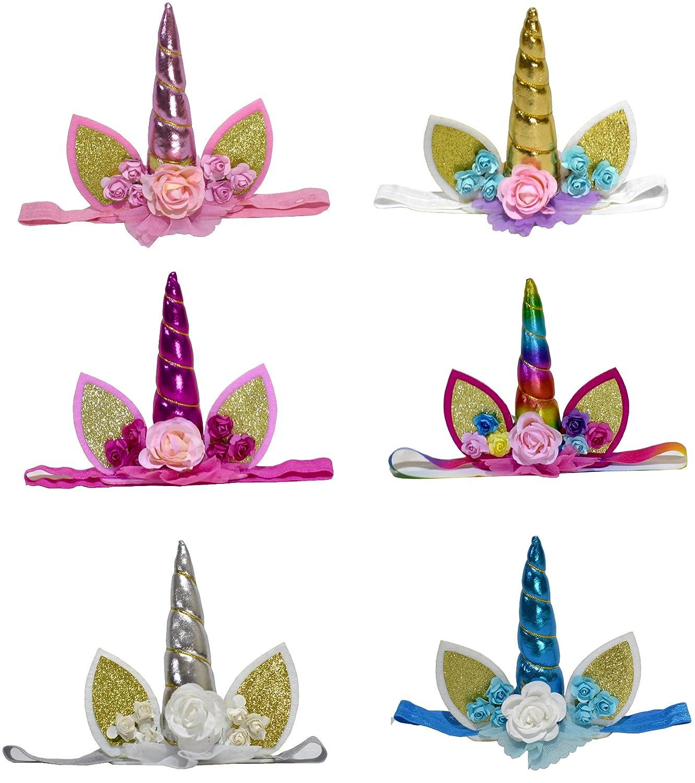 Amazon.com: yallfairy 6-Pack diadema Unicorn unicornio ...