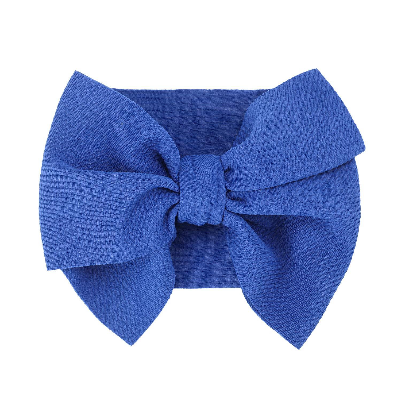 Qkurt 3pcs Baby Headband Nordic Style Big Bowknot Hairband Headwrap for New Born Baby Kids Girls