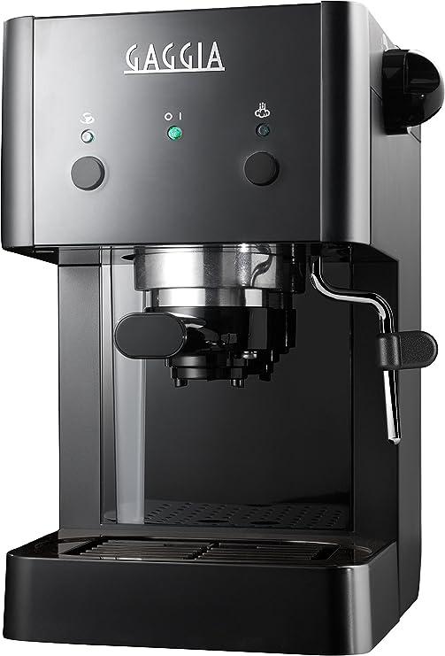 Gaggia GG 2016 Independiente Máquina espresso Negro 1 L Manual ...