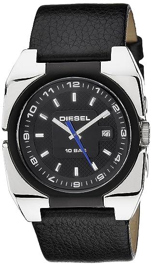 Diesel DZ1149 - Reloj analógico de cuarzo para hombre con correa de piel, color negro: Amazon.es: Relojes