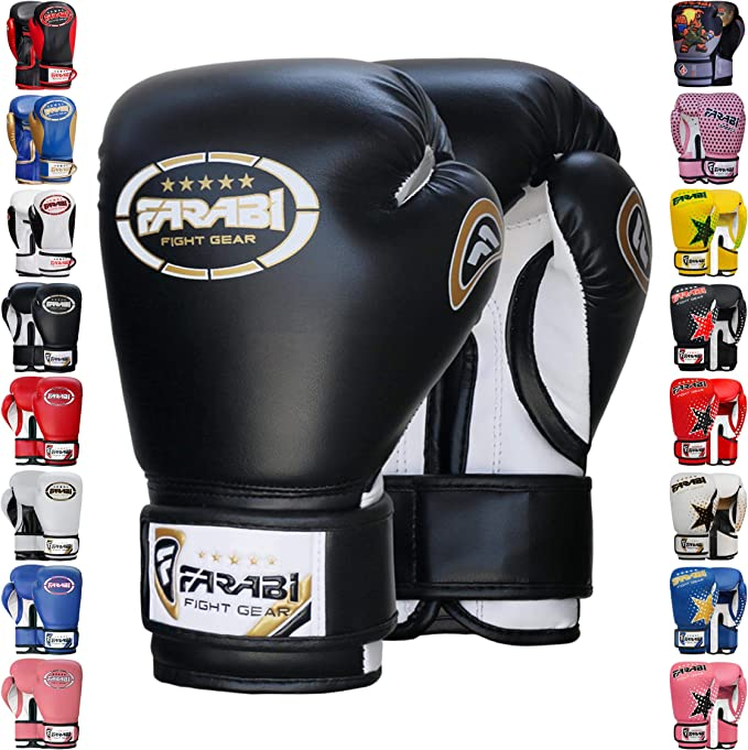 Farabi Retro Kids Boxing Gloves Junior Warrior Series Training Workout Gloves