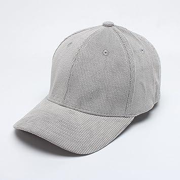 2018 otoño nuevos hombres salvajes y mujeres de pana gorra de béisbol lado sonrisa sombrero bordado marea al por mayor,Gris,M (56-58cm): Amazon.es: Deportes ...