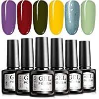 TOMICCA Gel Nail Polish Set 6 Colour Collection, Soak Off UV LED (#10)