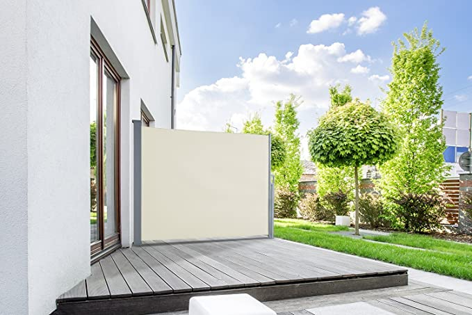 empasa Toldo Lateral Start Valla Ocultación Protector Solar en Diferentes tamaños Antracita o Blanco Crema - Beige, 160 x 300
