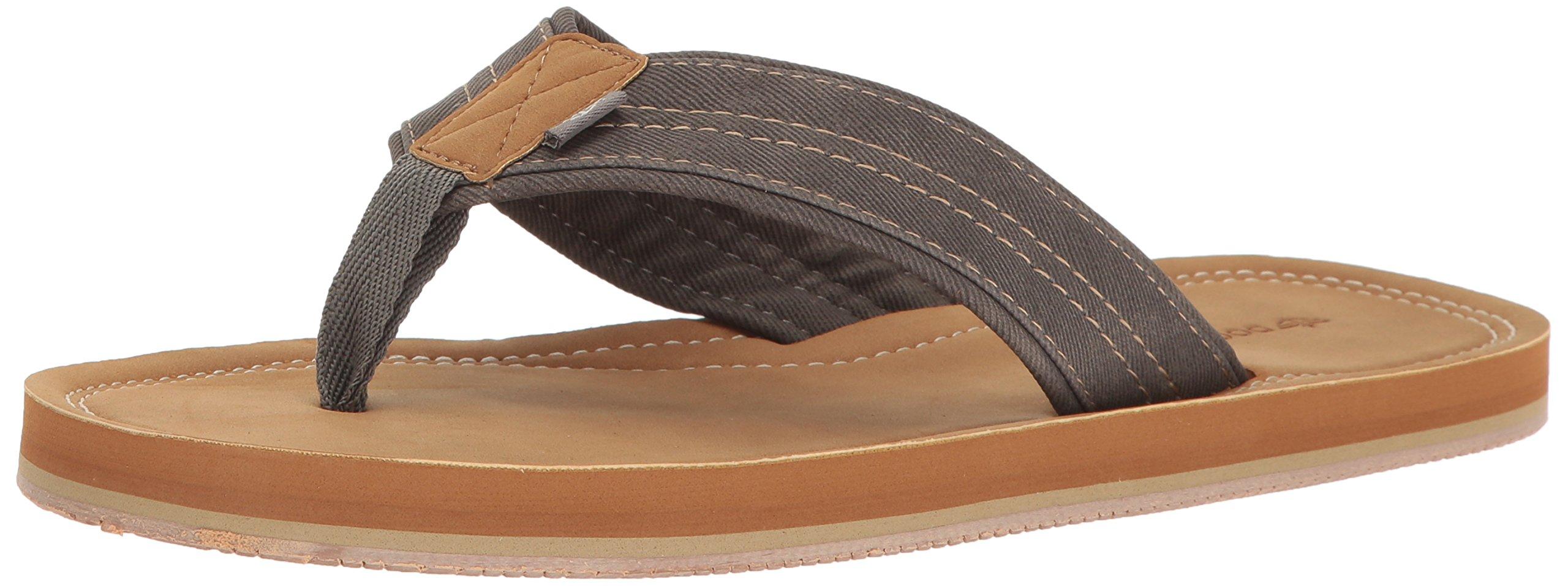 Dockers Men's Kevin Textural Classic Sandal Flip Flop, Grey, Medium/7-8 M US