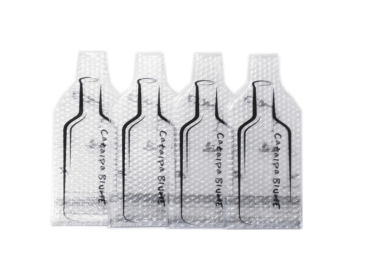 catalpa Fiore 4pezzi Protezioni con pluriball bottiglia di vino vino imballaggio riutilizzabile Protettore per trasportare Catalpa Blume