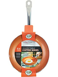 Chefs Cuisine - 8 Inches Copper Frying Pan - Ceramic Coated Aluminium Non Stick Fry Pans