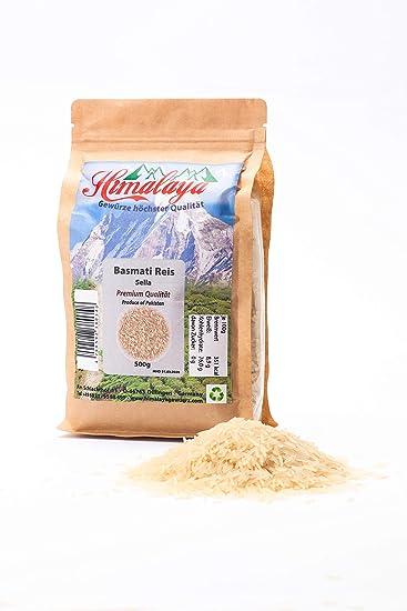 Arroz basmati 1121 Golden Sella Premium Himalaya Basmati Arroz basmati sancochado 5 x 500g Especias Calidad