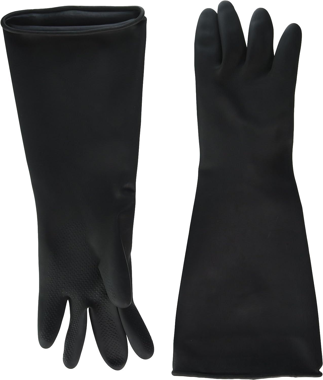 Winco NLG-1018 Latex Gloves, Medium, Black