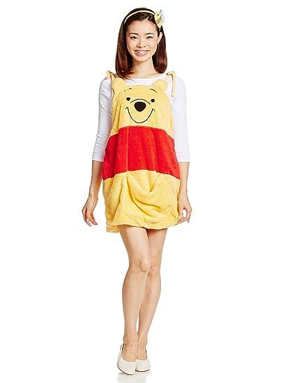 78c07ea8e Amazon.com: Disney Winnie the Pooh Costume - Winnie Costume Overalls -  Teen/Women's STD Size: Toys & Games
