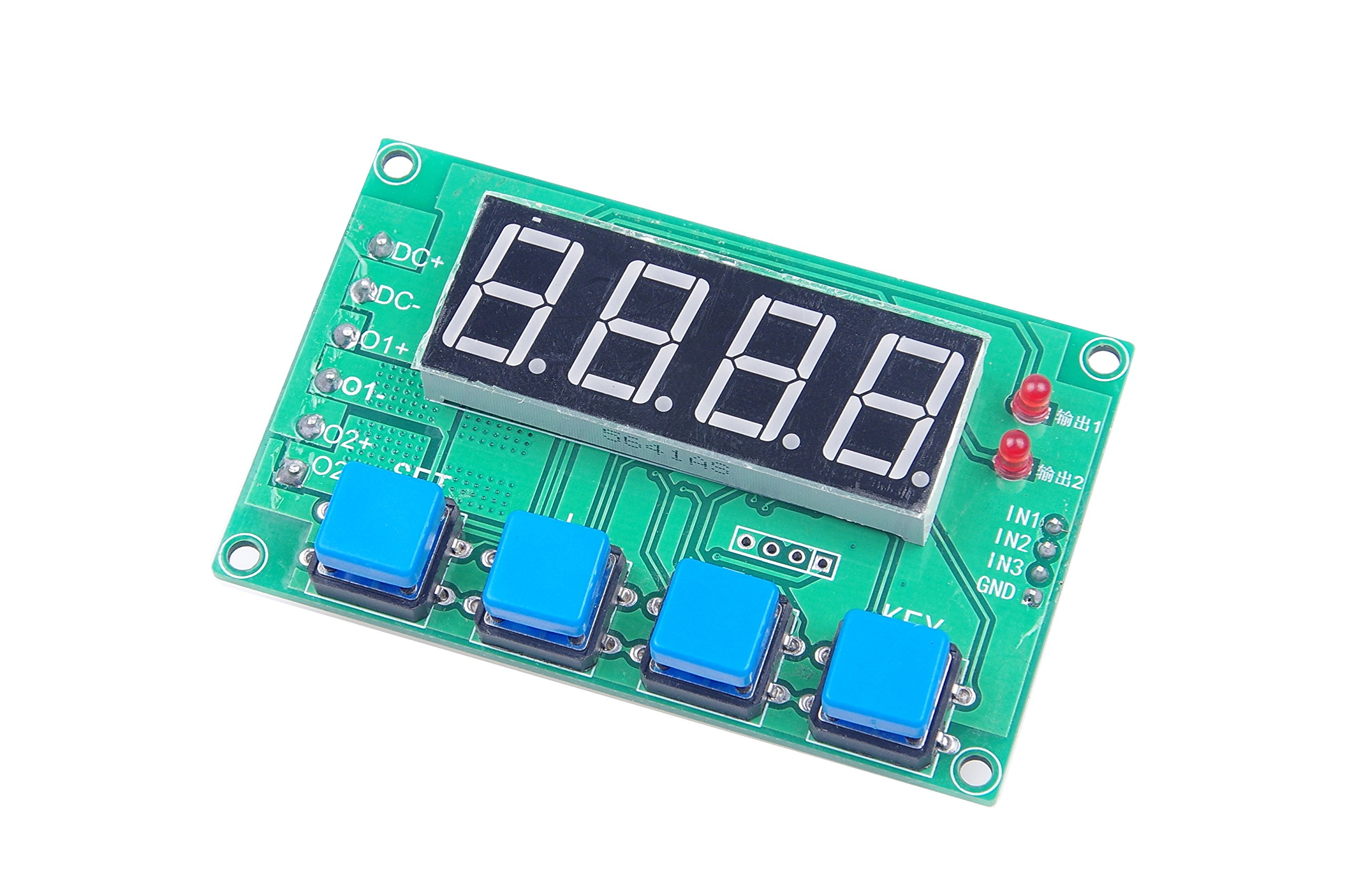 LM YN 12V 24V Timing Control Switch Trigger Delay On-off Cycle Dual MOS Module DC7-30V 10A 0.01S - 999 min Adjustable