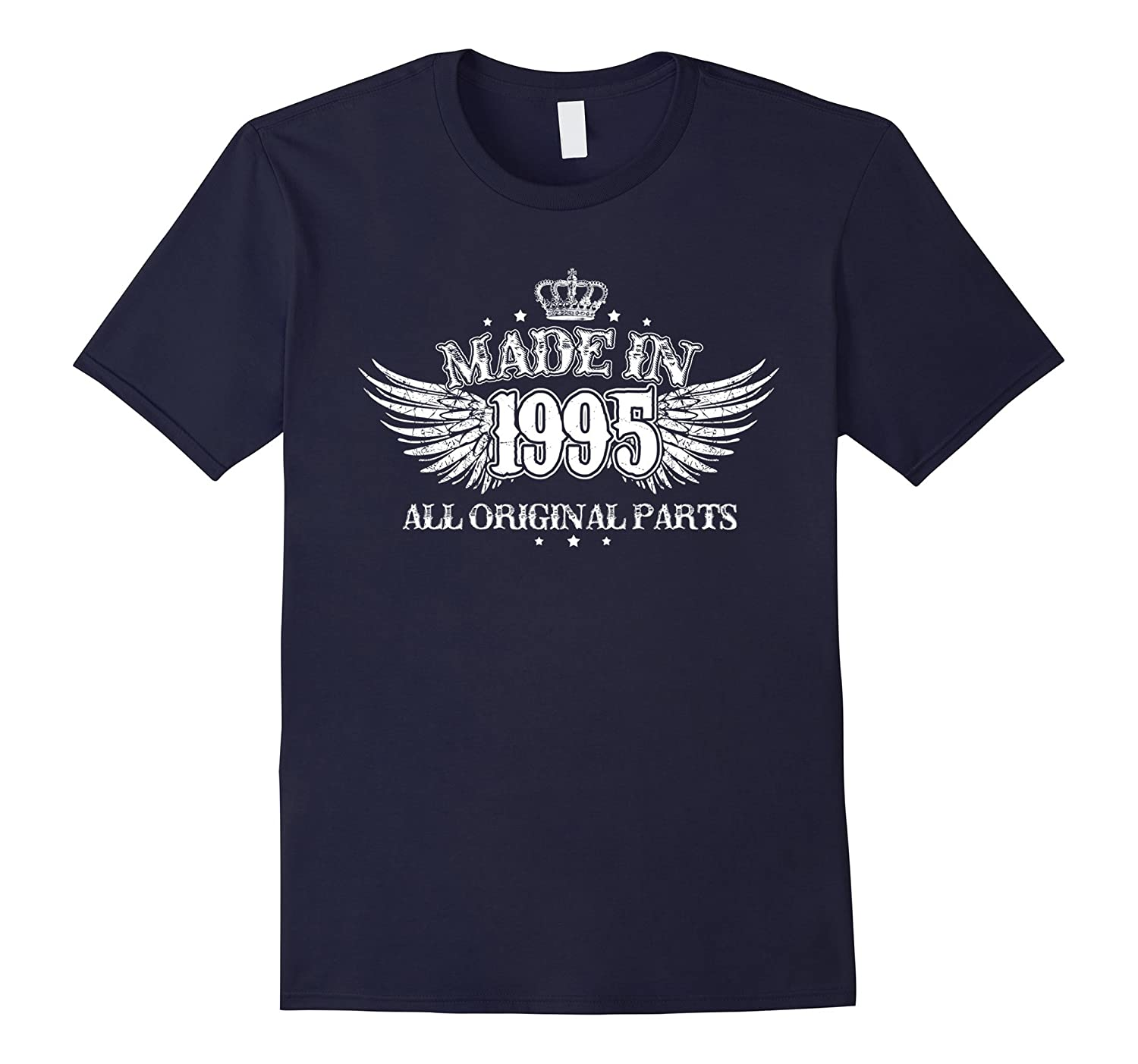 Made in 1995 Funny Birth Year Shirt Women for 22nd Birthday-Vaci
