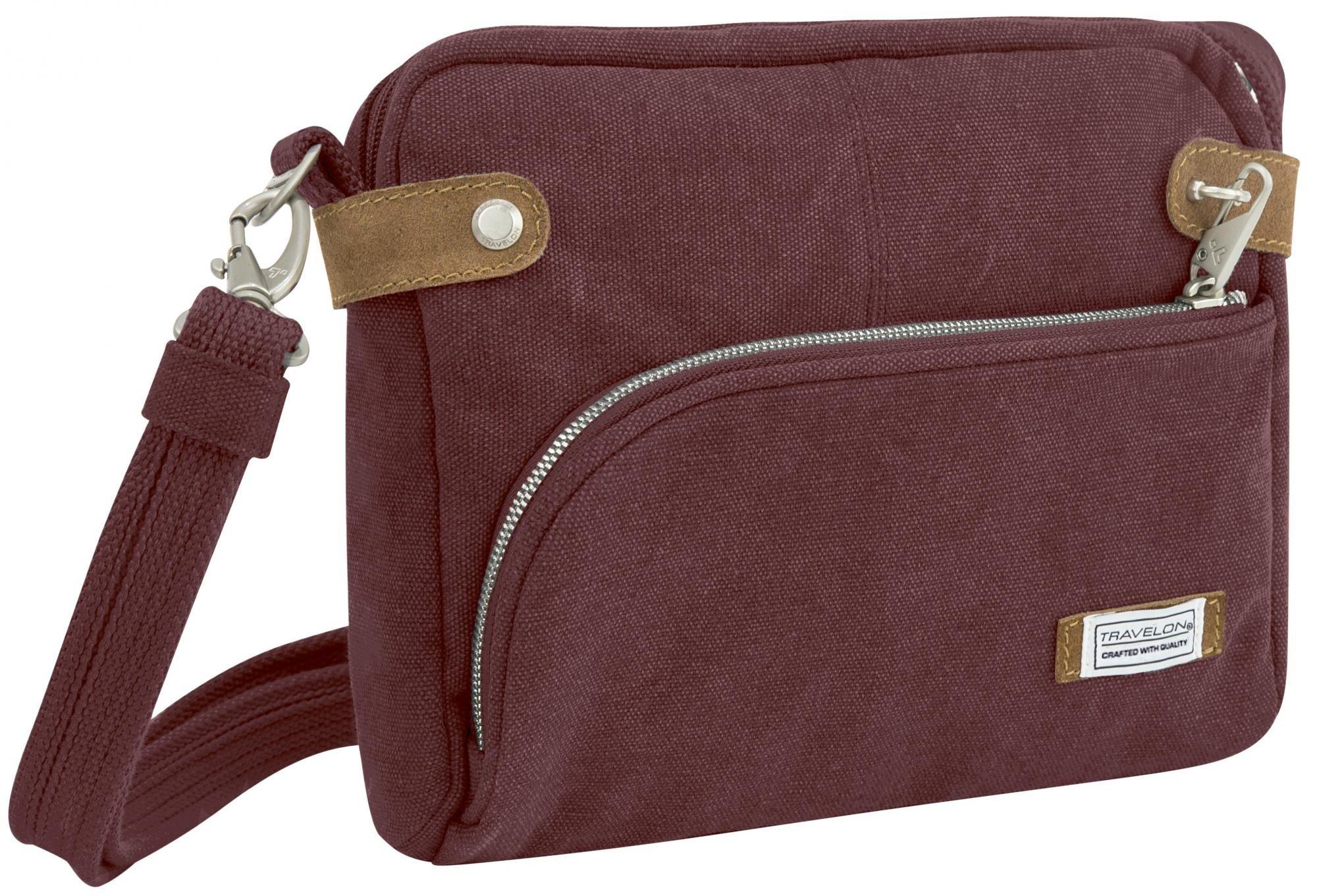 Travelon Anti-theft Heritage Crossbody Bag, Wine