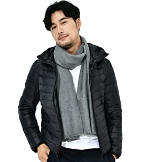 ouxiuli Mens Thick Loose Fit Outdoor Hooded Front-Zip Padded Down Jacket Coat