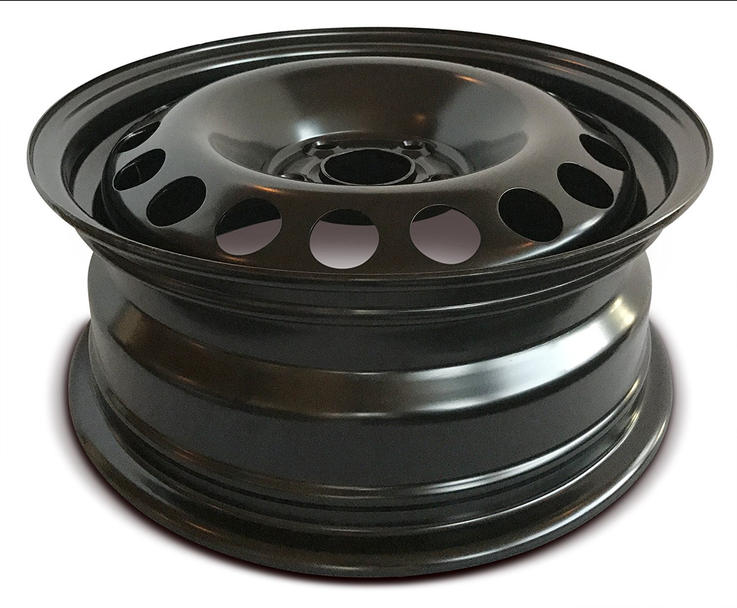 Road Ready Car Wheel For 2011-2014 Volkswagen Jetta 15 Inch 5 Lug Black Steel Rim Fits R15 Tire Exact OEM Replacement Full-Size Spare