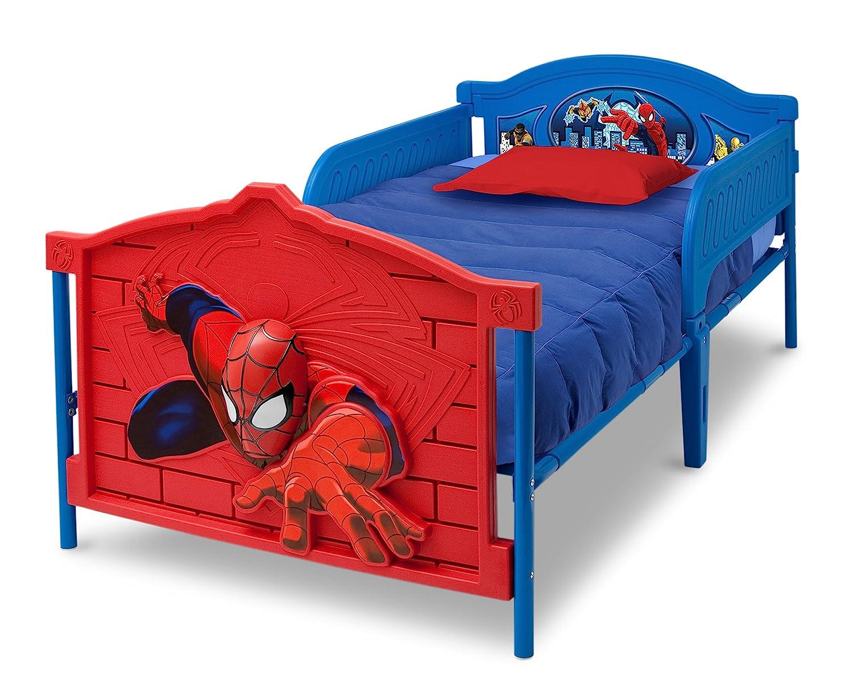 Marvel Spider-Man Delta Children Plastic 3D-Footboard Twin Bed