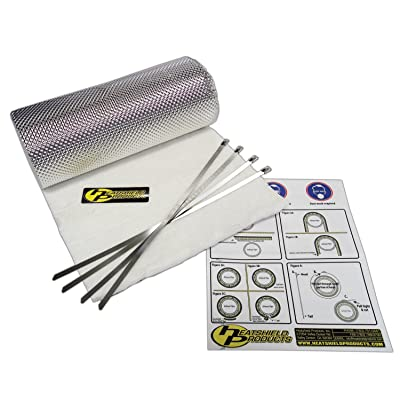 "Heatshield Products 176010 Heatshield Armor Kit 1/2"" Thick x 15"" Wide x 40"" Long Exhaust Heat Shield Kit with 4 Stainless Steel Locking Ties: Automotive"