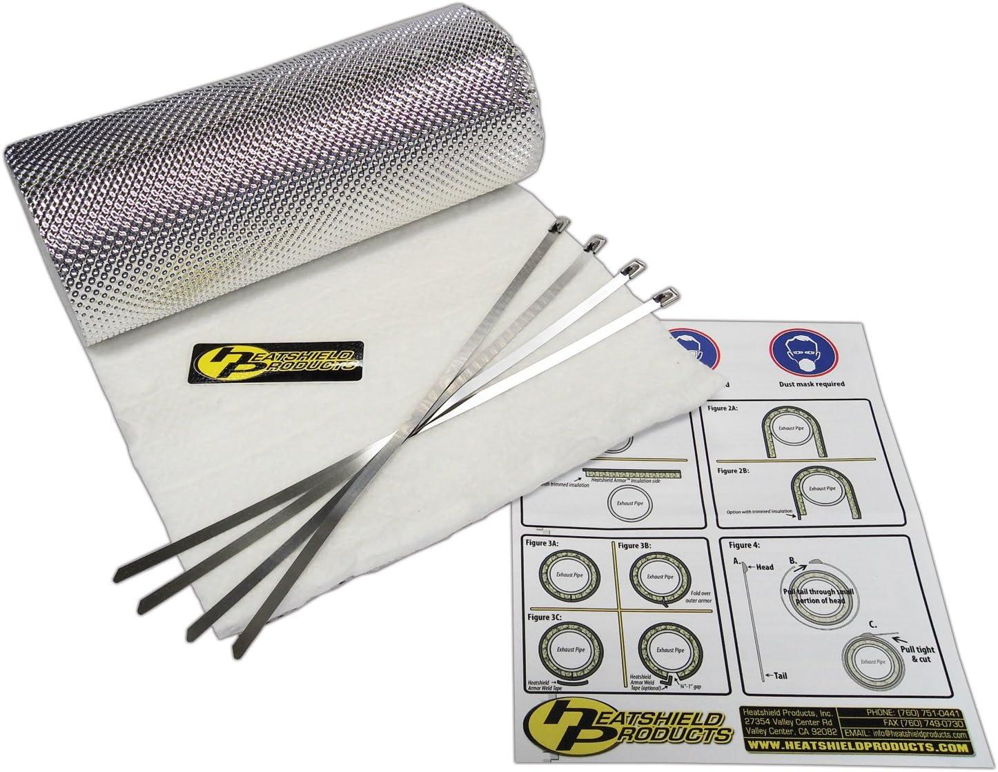 Heatshield Products 177102 Muffler Armor 14 x 20 x 1//4 Thick 2 Sheets