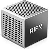 RIF6 Sound Cube Small Bluetooth Rechargeable Portable Speaker - 12 Hour Playtime, Full High Definition Sound for Smartphones