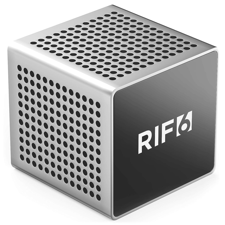 RIF6 RF00062 サウンドキューブ スモール Bluetooth 充電式 ポータブル ミニスピーカー 最大12時間再生可能 フル高精細サウンド & 堅牢な低音 スマートフォン タブレット ノートパソコン シルバー   B07NF7H9RQ