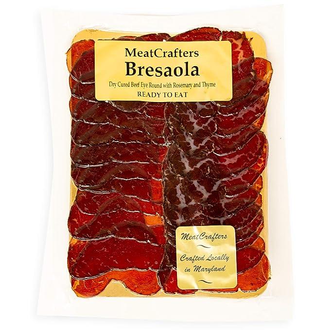 Sliced Bresaola, Dry Cured Beef Eye Round, 8oz (4-Pack)