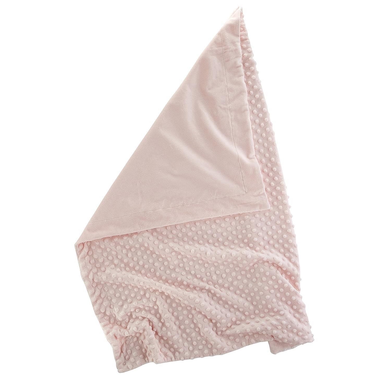 Stephan Baby Super-Soft Plush Bumpy Crib Blanket in Alphabet Block Gift Box Pink 30 x 40