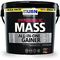 USN hyperbolisk massa allt-i-ett-gainer skakpulver, choklad, 6 kg