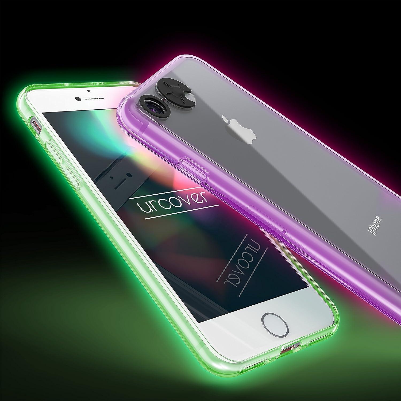 Urcover Coque Lumineuse - Lumiere pour Apple iPhone 5 / 5s / Se | Cover Qui s' Allume en Multiples Coleurs | Housse de Protection Brillante
