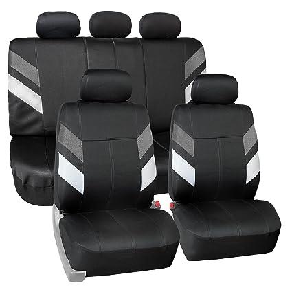 FH Group Neoprene Seat Covers Full Set Airbag Safe FB086GRAY115 Semi Universal Modern Edge