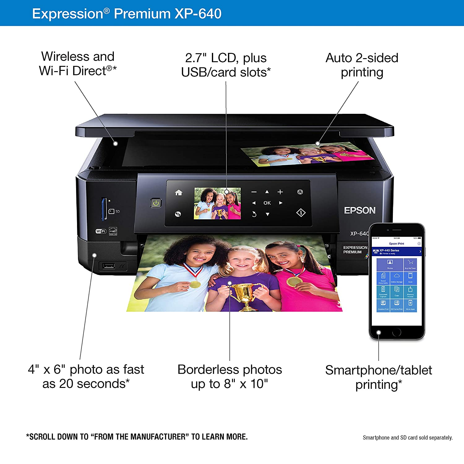 Amazon.com: Epson XP-640 Expression Premium Wireless Color ...